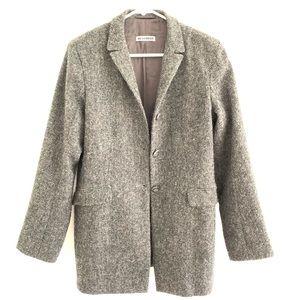 Jil Sander Wool Twill 3 Button Jacket Blazer